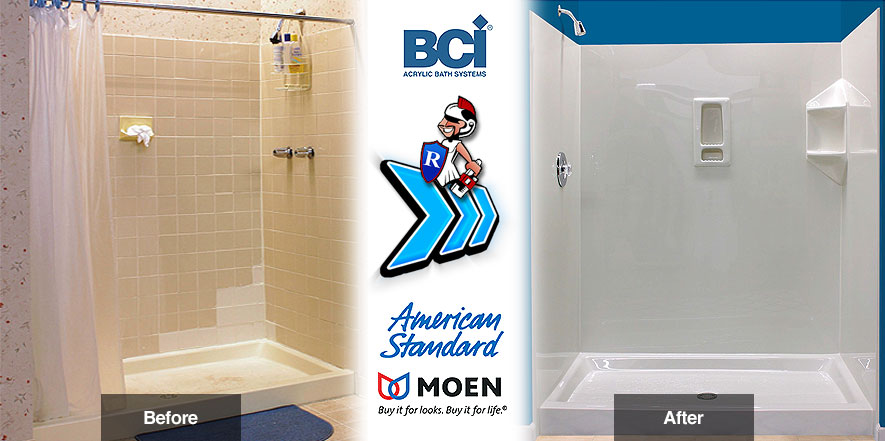 One day bathroom remodeling services roman plumbing inc for Bath remodel one day